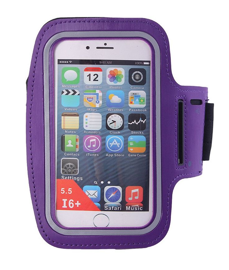 Smile YKK Men Women Outdoor Sport Running Armband Phone Pouch Bag Purple L. Material: Diving material & PU. Size: M: Suitable for 5 Inches Phone;L: Suitable for 5.5 Inches Phone. Durable Waterproof Bag / Running Arm Belts /Race Arm Belt - Fitness Workout Belt for Both Men and Women. Arm Pack Belt / Runners Arm Belt Pouch / Sport Running Arm Bag / Runner's Arm Pack Protects items during Workouts, Cycling,Hiking, Walking, Running, Swimming, Leisure and All Outdoor Activities. lightweight...
