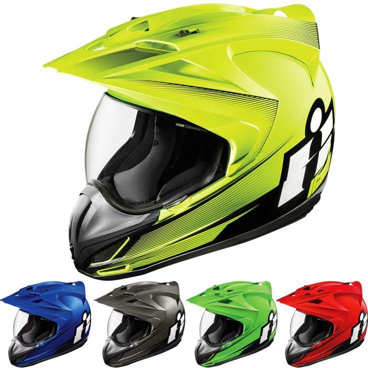 Icon Variant Double Stack Mens Street Riding Cruising Full DOT Motorcycle Helmet