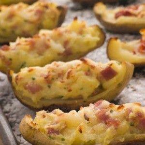 Πατάτες γεμιστές με προσούτο Ευρυτανίας και τυριά