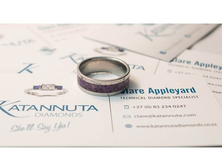 Our unique Njenjere titanium ring range is guaranteed to turn heads wherever this jewellery is worn. A simple yet elegant jewellery design, this flat titanium ring is 7mm wide with a 4mm crushed gemstone inlay. Pictured with amethyst, the purple is sure to start a conversation. Manufactured to order, this ring is available up to size Z +6 and is priced from R1,900, depending on ring size. Featuring crushed gemstones of your choice, the gem inlay can feature one colour gemstones, or a…