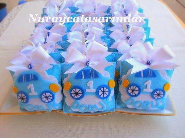 Nuraycatasarımlar: Keçe Bebek Şekeri - Doğum Günü