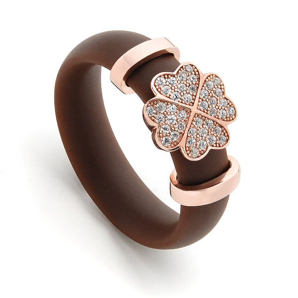 GOT LUCK BROWN n ROSE RING