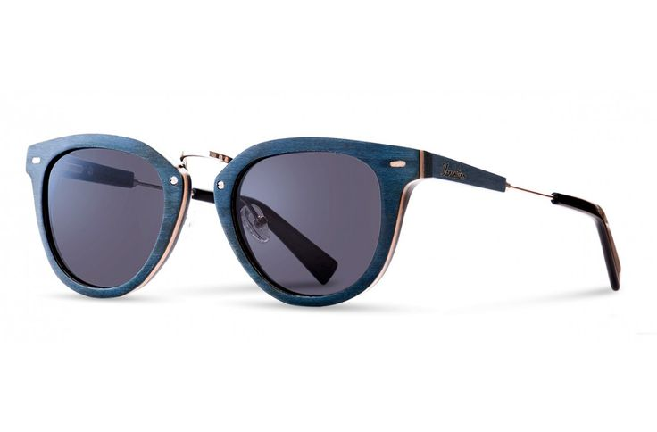 FORMOSA BLUE wooden sunglasses - made of skateboard, acetate and metal.