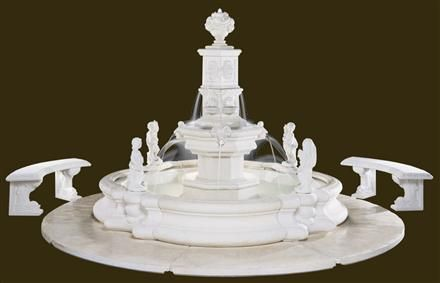The Grande Tower Millennia Outdoor Garden Fountain provides the perfect presence and design for large private gardens and outdoor commercial spaces