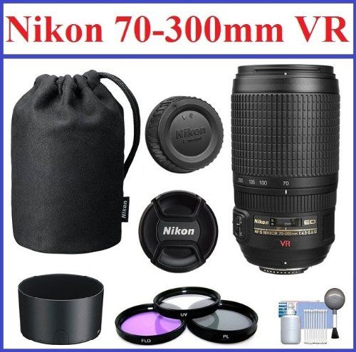 Nikon AF-S VR Zoom-NIKKOR 70-300mm f/4.5-5.6G IF-ED Telephoto Zoom Lens with 5-Year Nikon USA Warranty: Bundle Includes Nikon Lens Pouch, Nikon Lens Hood, 3-Piece 67mm Filter Kit and Lens Cleaning Kit True Modern Electronics http://www.amazon.com/dp/B00HSMVFLQ/ref=cm_sw_r_pi_dp_RhVRtb04F28HKR94