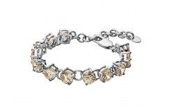 DYRBERG KERN HELICE Iconic and graceful beauty - Tennis bracelet made with nude coloured facet cut cubic zirconias.