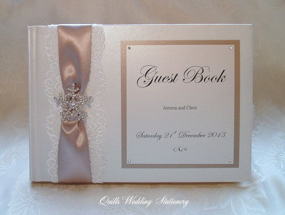 Luxury Personalised Wedding Guest Book. by QuillsWeddingFavours www.quillsweddingstationery.co.uk https://www.facebook.com/pages/Quills-Wedding-Stationery/278003989009997