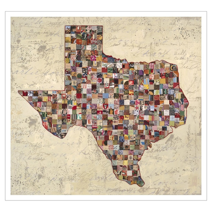 My Texas Map by Dolan Geiman 30