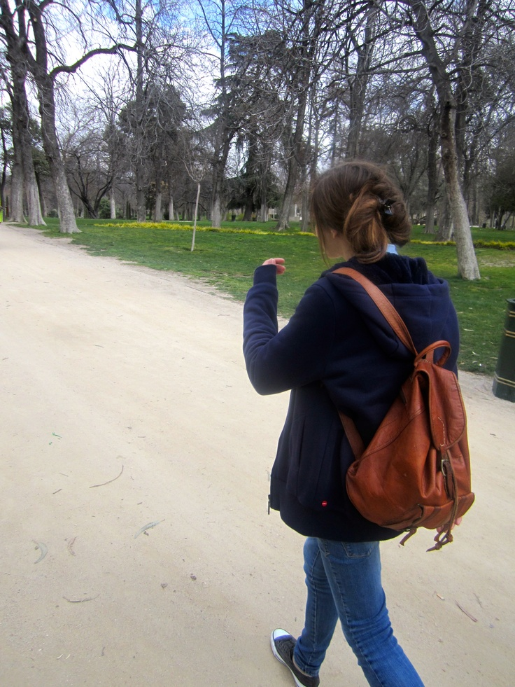 me, walking in madrid.
