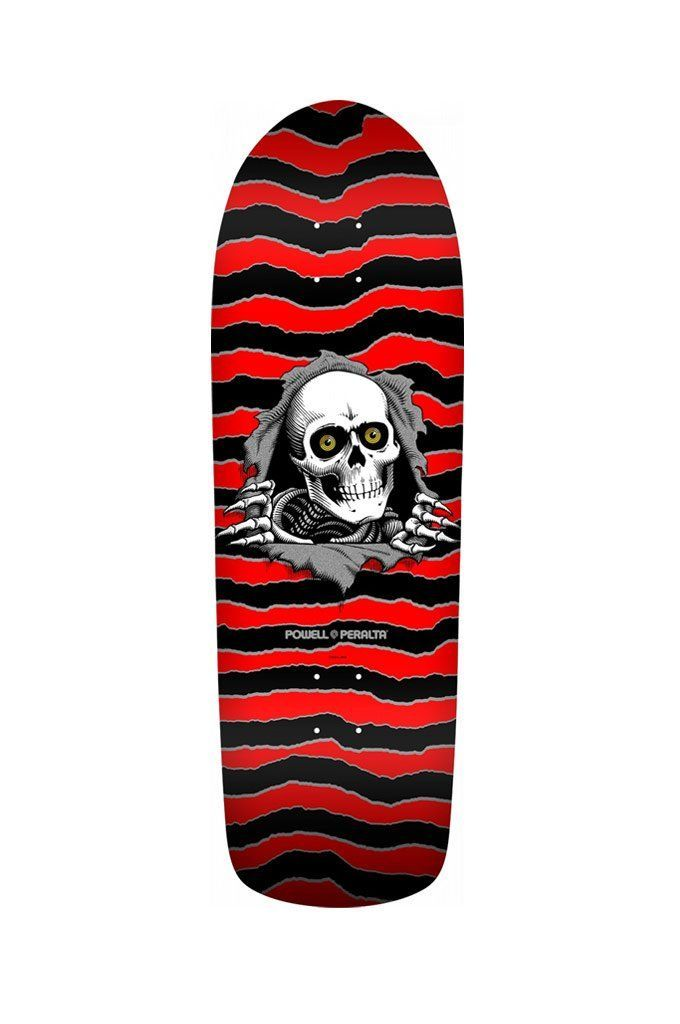 Powell Peralta Skateboard Deck OG Ripper White//Red 10 x 30 with Grip