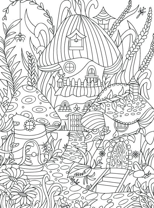 Enchanting Flowers Coloring Page Hidden Garden An Adult