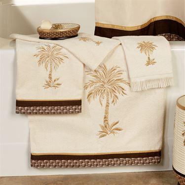 Oasis Palm 4 pc Tropical Bath Towel Set