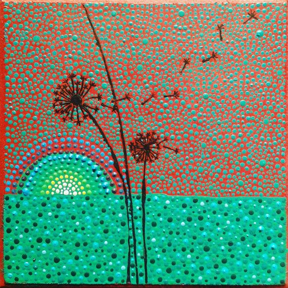 Check out this item in my Etsy shop https://www.etsy.com/listing/386075106/dotillism-art-acrylic-painting-dot