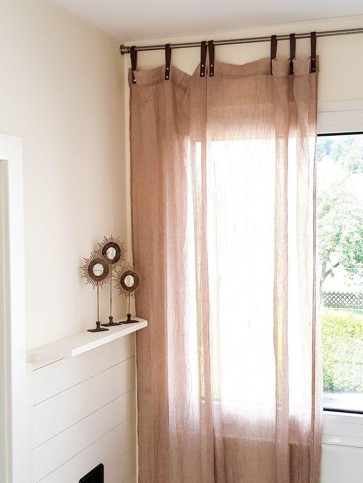 Hochwertig Tipp Für Schöne Vorhänge Und Gardinen Für Küche, Esszimmer, Wohnzimmer,  Lederschlaufen, Schlaufen