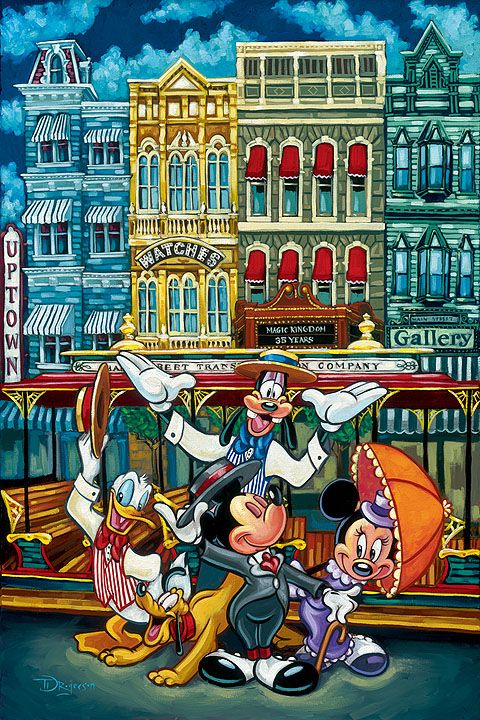 The Magic of Main Street | by Tim Rogerson // #disney; mickey and minnie mouse; goofy; donald duck; pluto