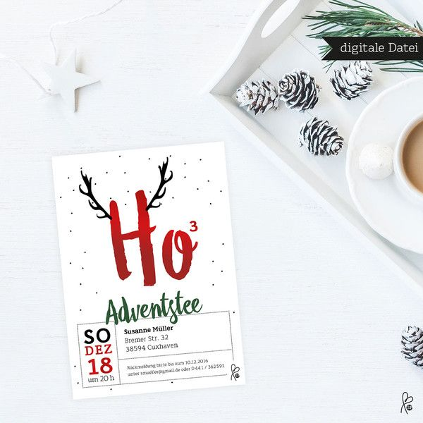 Weihnachtskarten - Weihnachten / Einladung / Feier / PRINTABLE / Set - ein Designerstück von sppiy bei DaWanda