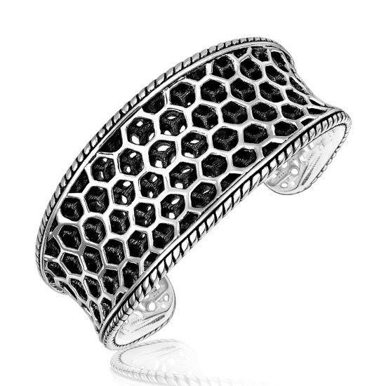 Cuff armband med Bikupemönster