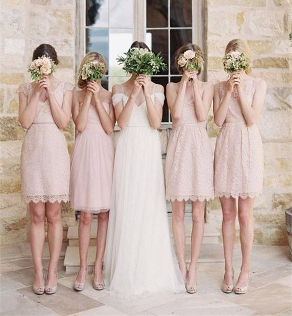 Sweetheart prom dress,mismatched bridesmaid dresses, short bridesmaid dresses, lace bridesmaid dresses,summer bridesmaid dress