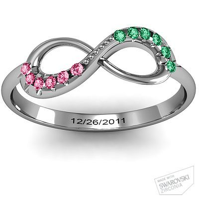 it would be a cute friendship ring. have the date when you became friends or eachothers names in them