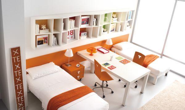 orange themed bedroom decorating for kids teenagers - Decoist