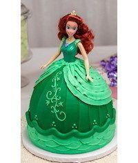 photo Buttercream decorated barbie cake tutorial