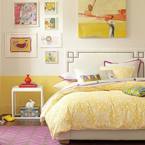 Google Image Result for http://2.bp.blogspot.com/-m-i01fFsHYE/TyExobLNM5I/AAAAAAAAIE8/VatwP8Oy0EI/s1600/yellow-orange-wall-bedroom-yellow-bedding-vintage-fun-retro-mod-unique-color-combination-teen-decor-white-wall-spring-summer-idea-colorful-fun-elegant.jpg