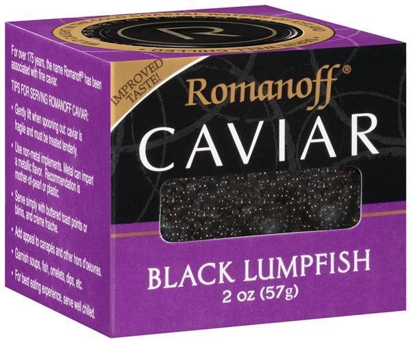 caviar pie romanoff black lumpfish caviar
