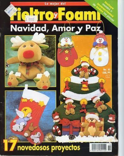 Revista navideña de fieltro