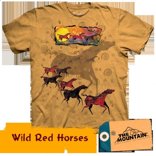 Wild Red Horses