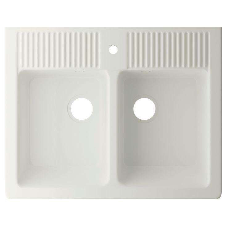 DOMSJÖ Lava-loiça 2 bacias - IKEA