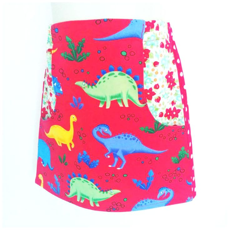 You've gotta love a skirt with functional pockets! Available in a range of themed 100% cotton prints, including this fun dino print for your junior (or not so junior) paleontologist. Made to order in sizes 1-10. Ships worldwide (except North America, due to insurance cover exclusions - sorry) from Australia.