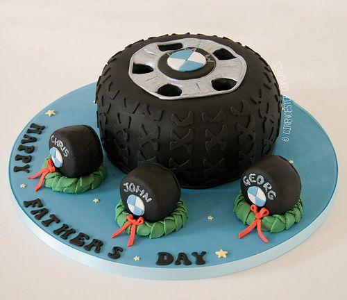 Steering Wheel Birthday Cake