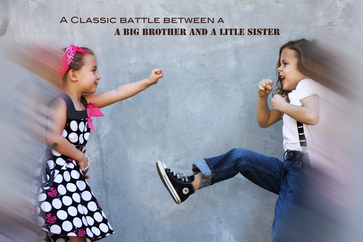 """Fun photo shoot, Brother and Sister """"fighting"""" ;) My"""