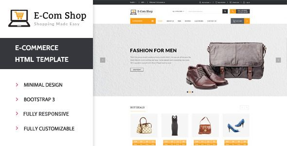 Ecom - Responsive eCommerce HTML Template #webdesign #website #design #responsive #besttemplates #template #SiteTemplates #Retail #Shopping