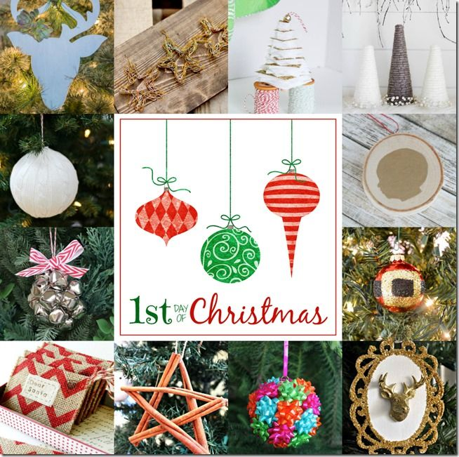 12 Days of Christmas Ornament Crafts {2014}