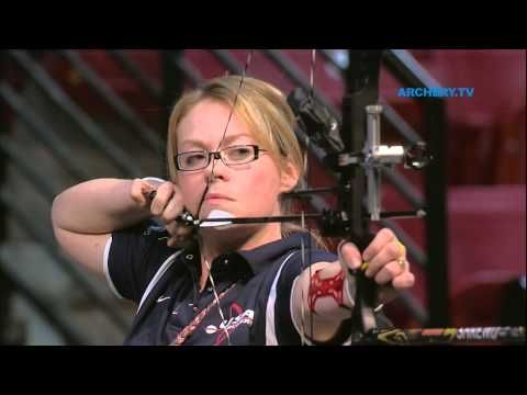 Uncut Match from the  2012 Indoor  Archery World Championships in Las Vegas  (USA)   Women Individual Compound Bronze Match -  OCHOA Linda (MEX) vs  COLIN Christie (USA)      All Ind. matches from this event :     http://www.youtube.com/playlist?list=PL2C3B1C24F16B3C50=view_all