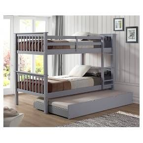 Solid Wood Bunk Bed with Trundle Bed - Saracina Home