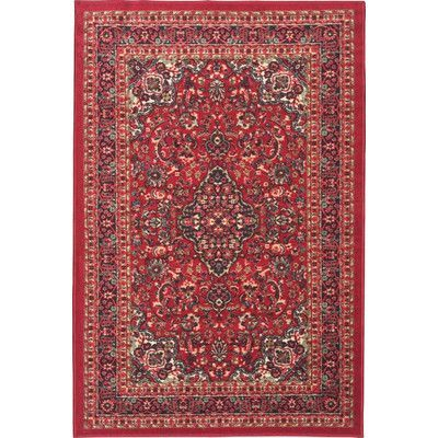 "Ottomanson Ottohome Red Area Rug Rug Size: Runner 1'8"" x 4'11"""