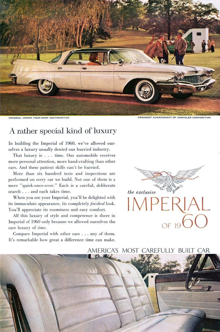 20 best 1960 imperial ads images on pinterest html automobile and vintage cars