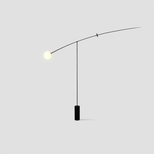 Magical, sublimely elegant Mobile Chandelier 5 floor light by Michael Anastassiades.