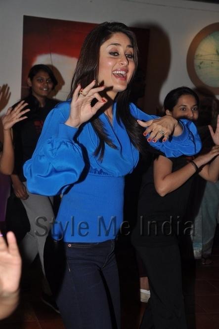 Kareena Kapoor in denims gets dancing at Struts Dance Academy http://shar.es/qukPT