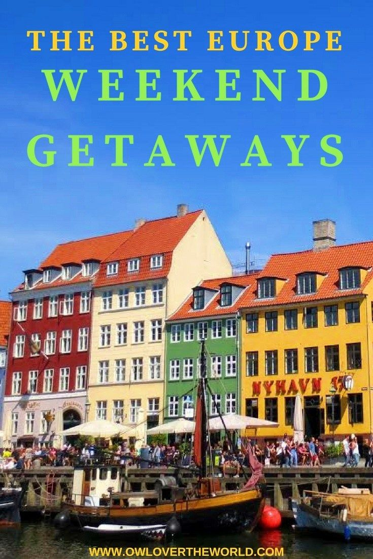 With all of these cheap flights around Europe how not to take advantage to hop on the plane and have a wonderful weekend in a new place, a new city. But where to go just for the weekend? Keep reading to discover the best Europe weekend getaways and your next destination. The best Europe weekend getaways / Weekend getaways / Europe travel tips / Places to visit in Europe / Travel tips / Weekend getaways in Europe / Whete to go for the weekend / Travel around Europe / Amazing...