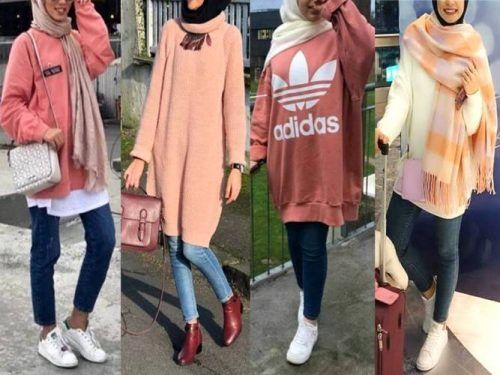oversized hijab sweatshirts-Hijab style collection – Just Trendy Girls
