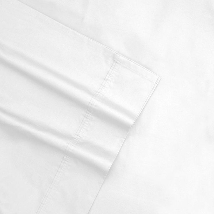 Sateen 600-Thread Count Egyptian Cotton Deep-Pocket Sheets, White Cal King