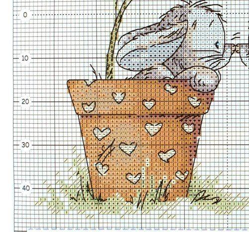 """Вышивка крестом. Подушка """"Два зайца"""". Схема. Обсуждение на LiveInternet - Российский Сервис Онлайн-Дневников"""