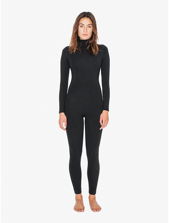 Cotton Spandex Turtleneck Catsuit || American Apparel  I need this!