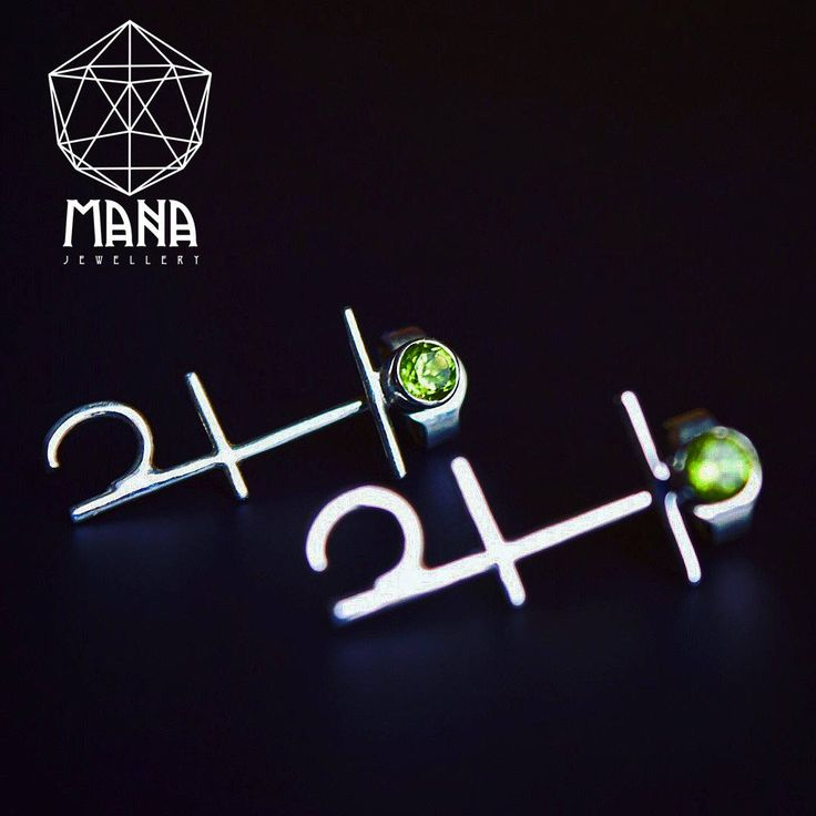 Anahata Chakra sterling silver Olivine gem stone boho earrings by MANAByGekova on Etsy