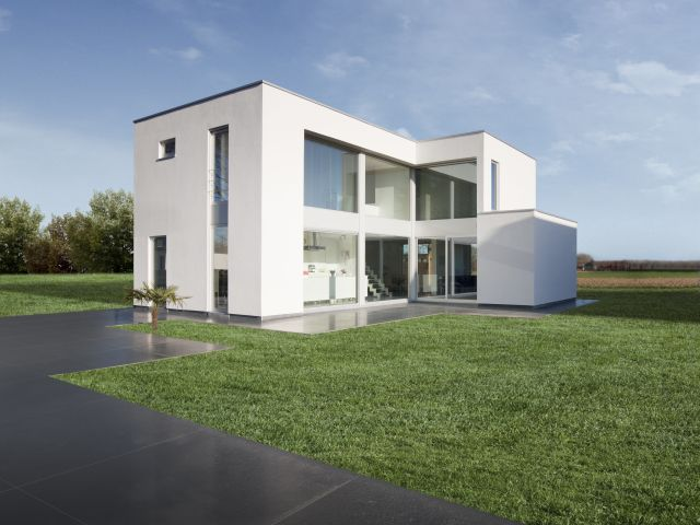 55 best nouvelle construction moderne images on pinterest for Construction villa moderne