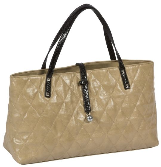 Cutler Sports Ladies City Golf Tote Bags - Grace Beige Quilt | via @lorisgolfshoppe