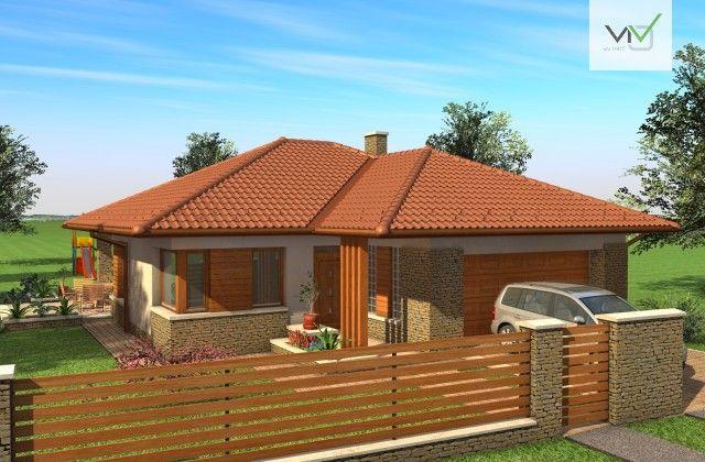 Egyszintes családi ház 167 m2 | Házak,ház tervek | Pinterest
